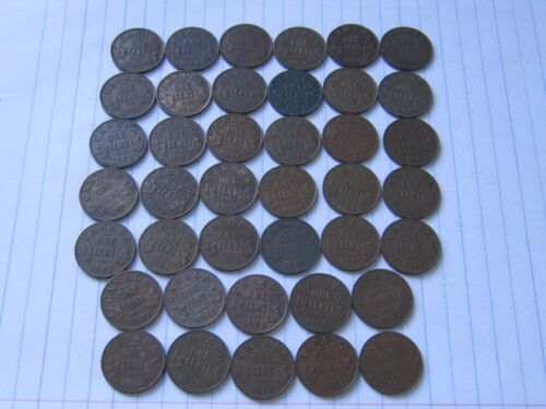 Lot of 40 Canada Bronze Coins, 1 Cent 1920-36 world coins #77