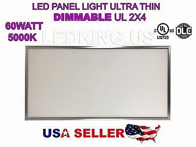 Panel 60w 2x4 5000k Led Light Ultra Thin Ul Dlc External Driver Dimmable 6600lm