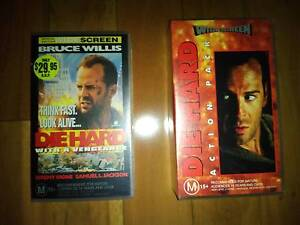 3x Die Hard (1, 2 & 3) Action VHS Video Movies VGC Bruce Willis Allawah Kogarah Area Preview