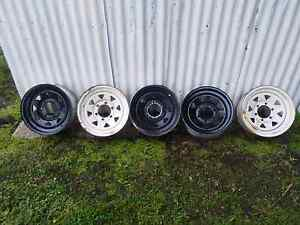 5x Sunraysia 6 stud rims 15x7 Ballarat Central Ballarat City Preview
