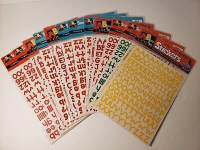 - Stickopotamus ABC&123 Alphabet/numbers Stickers 12 Packs 3/4