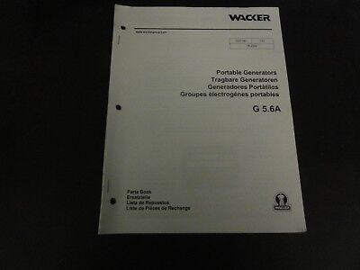 Wacker G5.6a Portable Generators Parts Book Manual