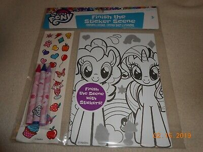 New My Little Pony Finish the Sticker Scene ages 3+ for kids Easter Basket - My Little Pony Easter Basket
