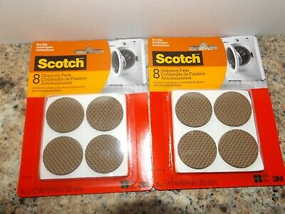 16 Scotch Furniture Non Slip Round Hard Surface Gripping Pads Couch Chair Fridge