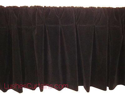 - Window Treatments Black Rod Pocket Curtain Topper Velvet Valance Panel Drapes
