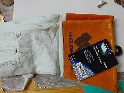 Weldmark Medium Tig Welding Gloves Top Grain Kidskin Leather W Cuff 1pair