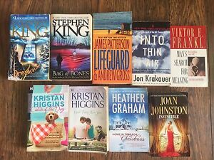 Variety of books - romance and thrillers