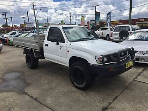 2002 Toyota Hilux SINGLE CAB 3.0L DIESEL MANUAL WHITE 4X4 4WD UTE Lansvale Liverpool Area Preview