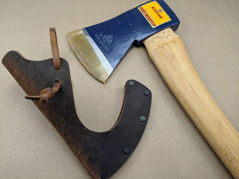 Hults Bruk Agdor 28 Felling Axe - Sweden Made - Wood Handle + Leather Sheath