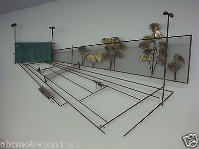 C Jere Bronze Tennis Racket  Wall Art Sculpture US Original Fun 3D CA Rare