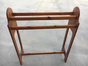 Timber towel rack