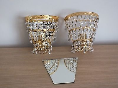 Crystal Droplet Wall Lights X 2 for sale  Shipping to Nigeria