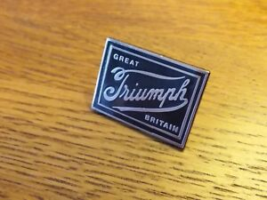 Barbour International Triumph pin badge from BARBOURS SS66 TRIUMPH COLLECTION