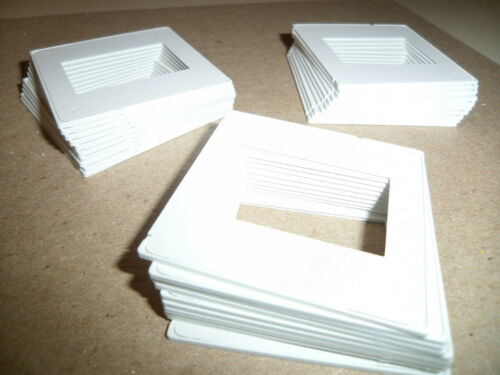 LOT of (30) Pakon Plastic 35mm Slide Mounts (White) Easy To Use! (BRAND NEW)