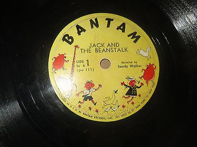 78RPM Bantam br 6 (RARE) Sandy Walker, Jack and Beanstalk / Cinderella clean V