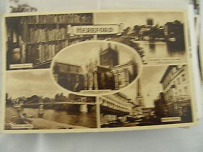 Postcard, Hereford, Multi View, 1958, Harvey Barton
