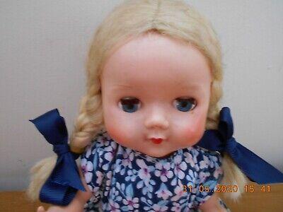 Vintage 1950S Hard Plastic Pedigree 10in  Doll Original Wig Fab