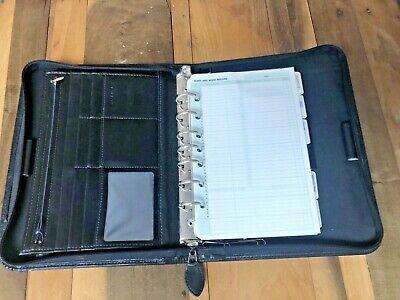 Day-timer Undated Desk Planner Organizer 7-ring Zipper Multi-pocket 8x5 Insert