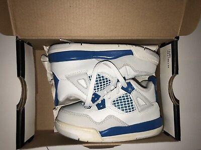 04e3ff2b284a DS Nike Air Jordan IV Retro Military Blue Toddler TD Size 7C Kids Pre School  5