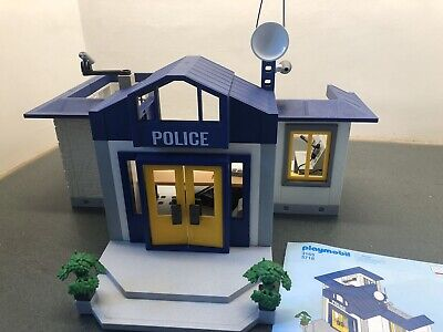 PLAYMOBIL Vintage Jail Break POLICE STATION BUILDING 3165 Bundle.