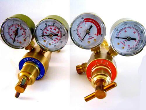 Mini Propane/Acetylene & Oxygen Premium Regulator Set Welding, Brazing Torch