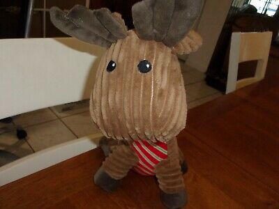 Time for Joy REINDEER krinkle ear Plush Dog Toy Xmas Holiday Squeaker 13