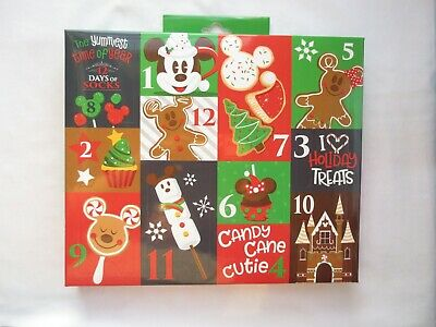 Disney Parks Advent Calendar 12 Days Of Socks Snack Icons Adult size 4-10