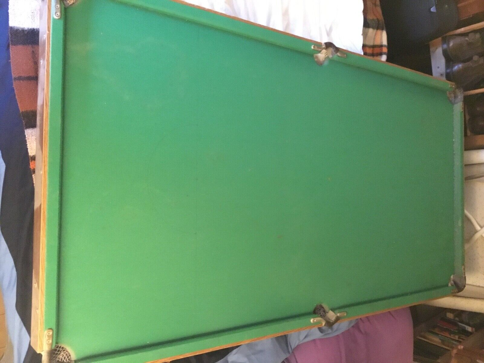 Pot black snooker table, 90cm x 1.68m.