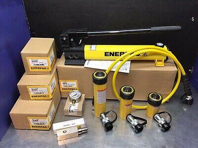 Enerpac 10 Ton Hydraulic Cylinder Set Rc102 Rc104 Rc106 P392 Pump Ga3 New