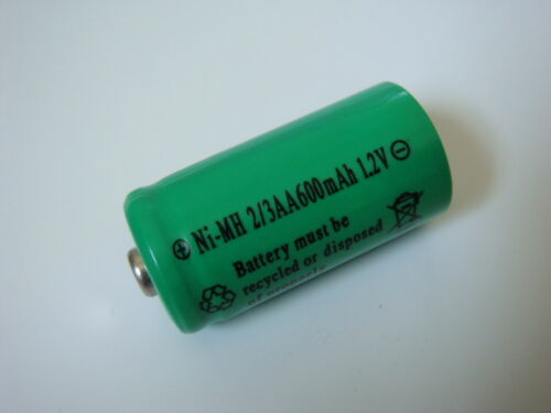 Akku Ni-MH 2/3AA 600mAh 1,2V für SOLAR-Leuchten Lampen Mignon Akkus Batterie