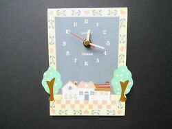 Country Kitchen Farm House Cottage Battery Operated Quartz Wall Clock Vtg 1980's