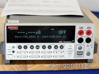 Keithley 2400 Sourcemeter 200vdc 1a 20w Rev C33 Nist Caled Wdata90 Day Wrnty