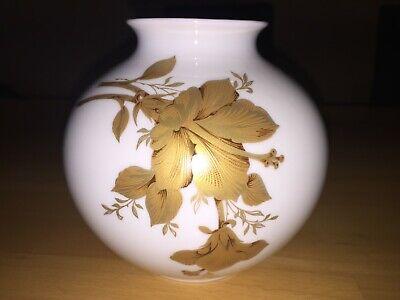 Kaiser Porzellan Kugelvase*Clarissa*Goldmalerei Blumenvase Vase Deko Top 70er J