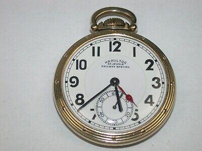 Hamilton 16 Size 23 Jewel Model 950B Railroad 2-Time Zone Pocket Watch. 91T
