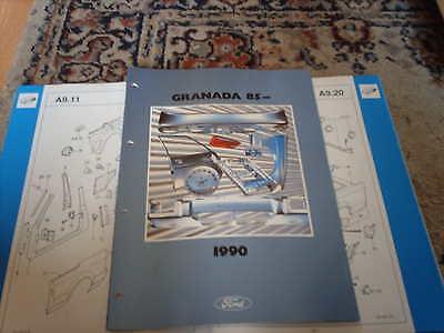 Ford Crash Parts Catalogue Granada 85 on inc RS