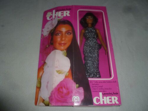 NEW VINTAGE MEGO 1976 CHER GROWING HAIR DOLL 62402 RARE NIB PINK BOX SINGER >
