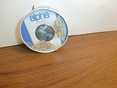 100 Ft Alpha Wire 28551 Black 22 Awg Solid Tfe Teflon Silver Plated Copper