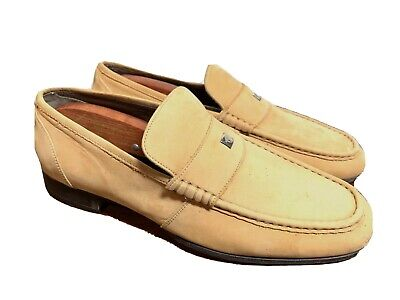 GIANNI VERSACE Suede Leather Medusa Loafers Slip On SUO 191 Mens  US 9 EUR 42