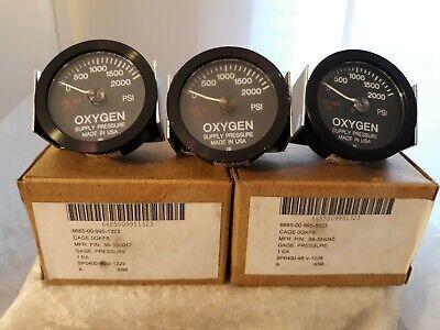 Vtg Oxygen Pressure Gauges 3 Nos