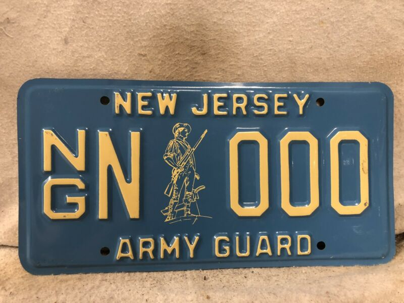 New Jersey National Guard Sample License Plate