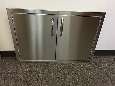 "USA 36"" OUTDOOR KITCHEN / BBQ Ait STAINLESS STEEL DOUBLE ACCESS DOOR 1/2"" LIP"
