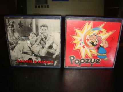 Super-8-film-POPEYE-CARTOON and Laurel&hardy .2 movies
