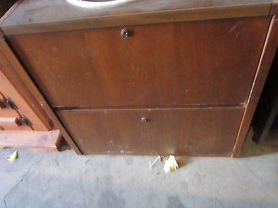Local Pickup 2 Drawer Wood Filing Cabinet With Locking Option No Keys 90171