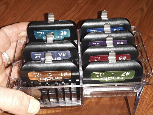 Andis Master Premium Metal 7pc Clipper Guard Comb Set - $17.00