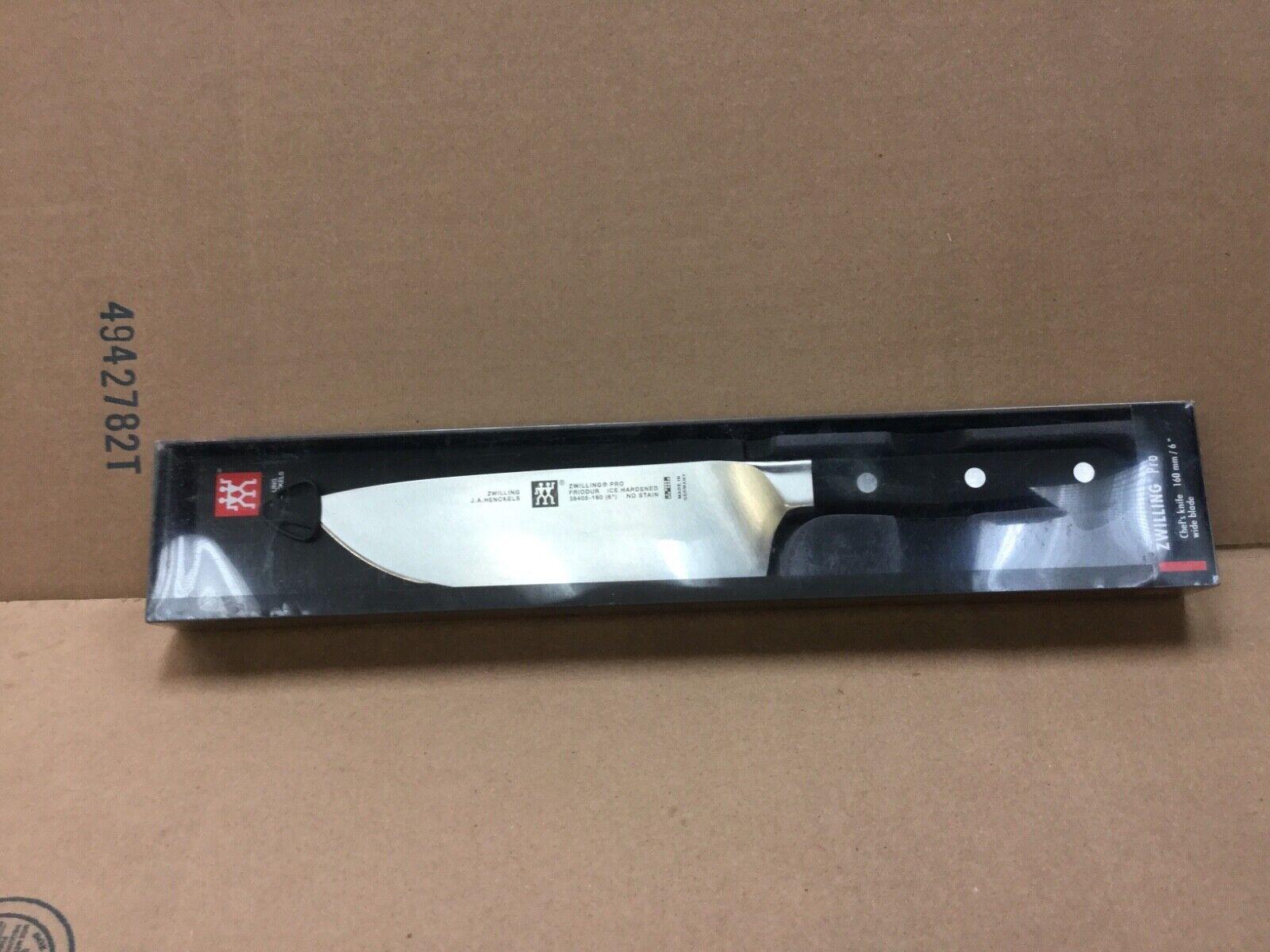 NIB - J.A. Henckels Zwilling Pro 6 inch Wide Blade Chefs Kni