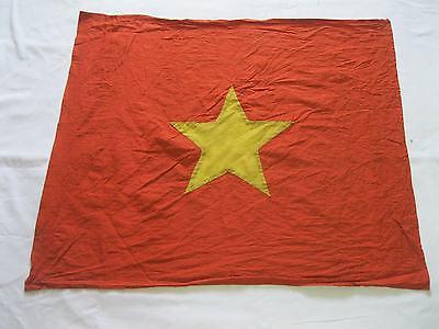 flag , vc - NVA ,   NLF,    FLAG , red flag with YELLOW star  , vietnam war flag