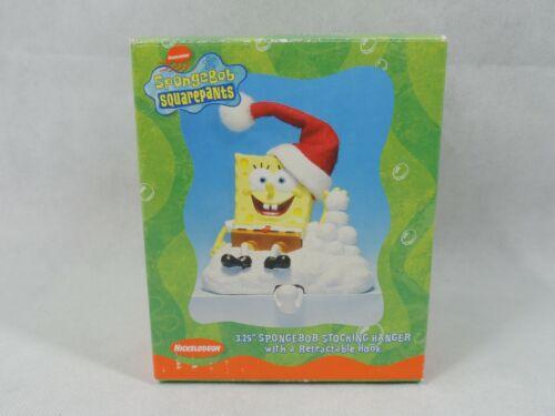 "SpongeBob SquarePants 2003 Christmas Stocking Hanger 3.25"" Nickelodeon Viacom"