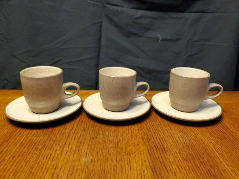 Heath 3 Mugs/Cups & Saucers Excellent Condition