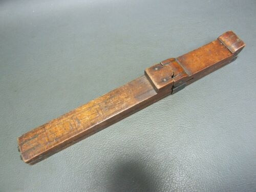 Vintage boxwood & brass foot shoe measure rule ruler by T Temporal