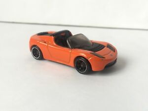 2009 Hot Wheels Speed Machines Tesla Roadster Sport Orange